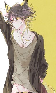 Anime Guy - Animal Ears, Glasses