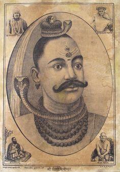 Shri Kashi Vishvanatha (Shiva as Lord of the Universe, in Varanasi). Shiva Art, Shiva Shakti, Hindu Art, Krishna Art, Om Namah Shivaya, Indian Gods, Indian Art, Shiva Tattoo Design, Swami Samarth