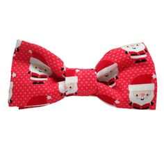 Dog Bow Tie Santa Baby Red   Classic Hound Collar Co.