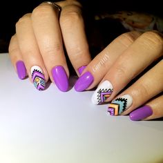 Indian Nails, Aztec Nails, Nail Manicure, Nails Inspiration, Summer Nails, Acrylic Nails, Nail Designs, Hair Beauty, Nail Art