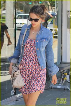 "Alessandra Ambrosio in ""Splendid"" Wildflower Dress"
