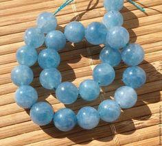 Кварц аквамариновый 10 мм шар гладкий бусины камни для украшений. Handmade.