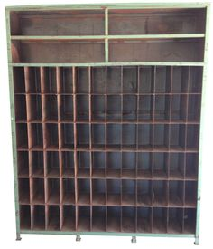 Vintage Industrial Cubby Shelving on Chairish.com