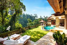 Villa with a private pool at the Viceroy Bali