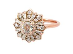 The Heiress Diamond White Sapphire or by HeidiGibsonDesigns