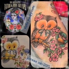 https://www.facebook.com/VorssaInk/, http://tattoosbykata.blogspot.com, #tattoo #tatuointi #katapuupponen#vorssaink #forssa #finland #traditionaltattoo #suomi #oldschool #pinup #owl