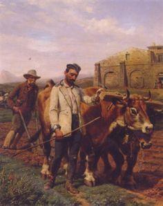 Tendre les boeufs 1861