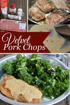 Velvet Pork Chops ~ http://www.southernplate.com