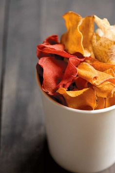 Homemade Vegetable Chips Recipe - time to bust out the mandoline and put those root veggies to good use