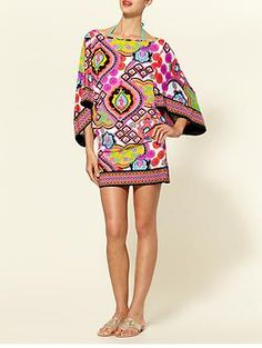 I have one of these and I got so many compliments in Mexico!  LOVE! Trina Turk Swim (OR dress!) Tunic...love the color palette