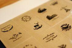 Round Transparent Sticker Set - Vintage Patterns