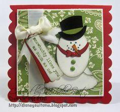 Punch art snowman
