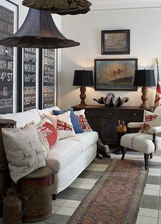 Photo: Room by Dan Marty Designs - too many Union Jacks