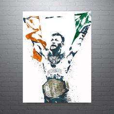 Conor McGregor UFC Poster Art Print Kids Decor Watercolor