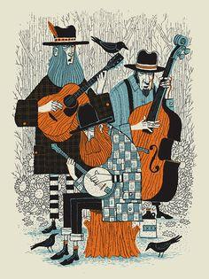 Bluegrass Band silkscreen