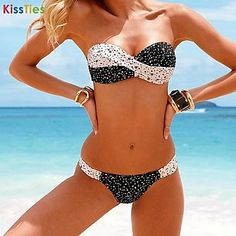 KissTies®Women's Sexy Swimwear Bikini Swimsuit - USD $ 12.24