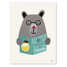 'Bee Keeping for Dummies' Michelle Carlslund is a freelance illustrator based in Copenhagen, Denmark! Illustration Mignonne, Cute Illustration, Art D'ours, Bear Art, Bee Keeping, Illustrators, Print Patterns, Art For Kids, Character Design