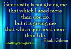 Generosity In Words Of Khalil Gibran
