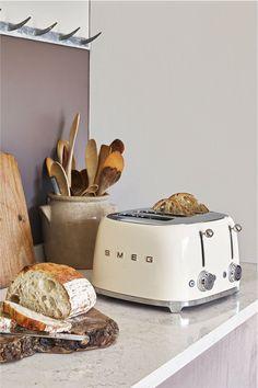 Buy Smeg 4 Slot Toaster from the Next UK online shop Smeg Kitchen, Retro Kitchen Appliances, Retro Kitchen Decor, Specialty Appliances, Kitchen Dining, Small Appliances, 4 Slot Toaster, Smeg Toaster, Retro Toaster