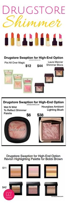 Pin now, save for when you're shopping later. Many MORE drugstore makeup dupe pictures - Click through for full list.