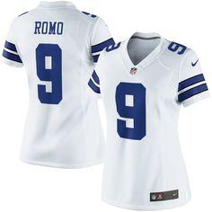 Nike Tony Romo Dallas Cowboys Womens Limited Throwback Jersey ...