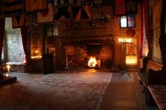 Great Hall of Comlongon Castle - 15th Century Medieval Scottish Castle