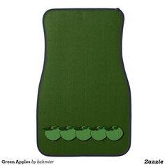 Green Apples Car Mat