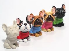 * * * * * * * * * * * * French Bulldog Ceramic mini ornament figurine * * * * * * * * * * * * Individually hand painted by skill crafts. Mini Bulldog, French Bulldog Gifts, French Bulldogs, Polymer Clay Animals, Dog Art, Cute Dogs, Diy Crafts, Pets, Biscuit