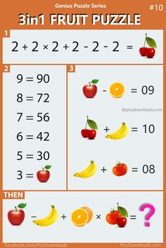 143 Best Equation images | Maths puzzles, Brain teasers