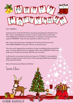 Christmas Santa Letter/Certificate & Reindeer Dust Available Online To Buy From theinvitefactory For A Great Deal On Christmas Santa Letter/Certificate & Reindeer Dust Or Any Other Unique Handmade Craft Gifts And Creative Gift Ideas Visit Stallandcraftcollective.co.uk #4294