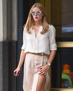 Olivia Palermo se promène à New York, le 22/07/2015