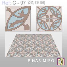 Carreau ciment by Pinar Miró Tile Art, Mosaic Art, Tiles, Art Nouveau, Catalog, Rugs, Drawings, Kitchen, Home Decor