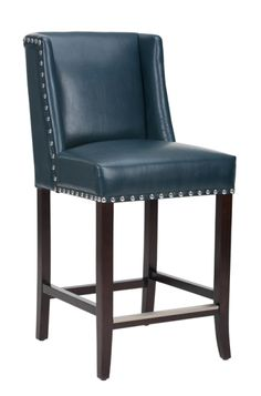 New Leather Nailhead Counter Stool