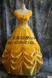 Online Shop 2014 Real Adult Women Bamboo Fiber Poplin Hot Sale Custom Made Beauty And The Beast Belle Cosplay Costume Dress for Party|Aliexpress Mobile
