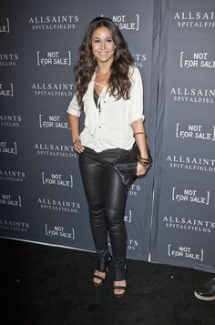 Pics} - Emmanuelle Chriqui at the AllSaints Spitalfields Launch Party For The Capsule Not For Sale T-Shirt Collection at The Music Box at Fonda in Hollywood, CA October 24 2011 Tight Leather Pants, Leather Trousers, Leather Leggings, Black Dress Red Carpet, Emmanuelle Chriqui, Glamour, Celebrity Feet, Girls In Love, Beautiful People