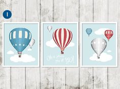 Hot Air Balloon Nursery Oh The Places by StrawberryJamStudio