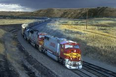 Bnsf Railway, Rail Transport, Burlington Northern, Railroad Photography, Rose Buds, Locomotive, Santa Fe, Empty, Trains