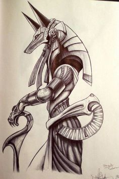 ▷ Over 75 ideas for tattoo motifs with a deep meaning- ▷ Über 75 Ideen für Tattoo Motive mit einem tiefen Sinn a drawing of the Egyptian goddess of birth, rebirth and magic Isis - Anubis Tattoo, Isis Tattoo, Horus Tattoo, Hamsa Tattoo, Symbol Tattoos, Tattoos Motive, Body Art Tattoos, Sleeve Tattoos, Tatoos