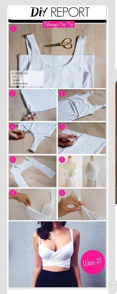 DIY Crop Tops From T-shits