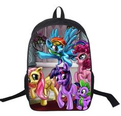 0904bb7de62b My Little Pony Backpack For Teenagers Girls School Bags Young Women Daily  Backpack Children Backpacks Kids Bag Mochila Escolar