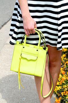 SUMMER STRIPES - GOLD COAST GIRL #fashion #womensfashion #streetstyle  #summerstyle #dress #stripes #neon #asos #rebeccaminkoff