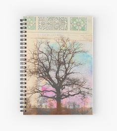 Winter Before Spring by Elena Ray  |||  Spiral Notebook At Redbubble. ||| Posters and Prints ::: tree colorful winter writing diary blank book notebook