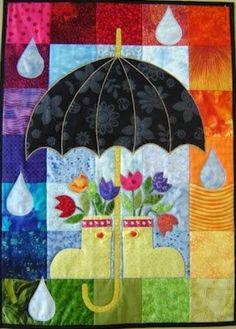 Cute April Showers quilt