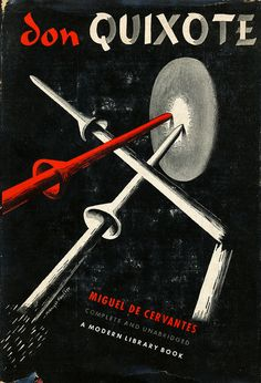 Don Quixote book jacket by E. McKnight Kauffer