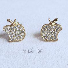 Aretes Mila's Apple - Made with Swarovski elements