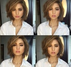 Cute Short Bob Haircuts and Hairstyles for Women in 2018 Bob haircut looks good in all types of hair. However, it's a perfect haircut for less volume hair. Thin and fine hair, when cut with a short bob haircut looks thick and stylish. Stacked bob h… Bob Haircuts For Women, Thin Hair Haircuts, Short Bob Haircuts, Simple Hairstyles, Haircut Short, Choppy Bob Hairstyles For Fine Hair, 2018 Haircuts, Short Undercut, Hairstyles Haircuts