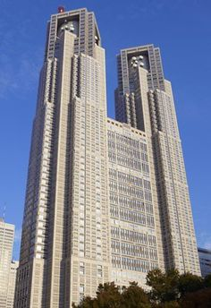 Modern Gothic?  The Tokyo Metropolitan government Building (Tokyo City Hall), Designed by Kenzo Tange, 1991