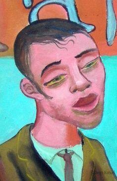 tango milonguero 3, pinturas de Diego Manuel Sale of a painting of the Argentine Tango. Venta de una pintura sobre el tango Argentino.