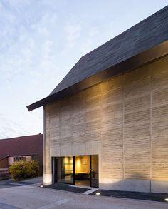 Pisé /centre d'interprétation du patrimoine archéologique de Dehlingen - 67 - nunc architectes