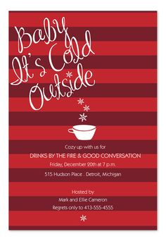 Baby It's Cold - Holiday Invitations by Invitation Consultants. (Item # IC-RLP-HOL-547 )